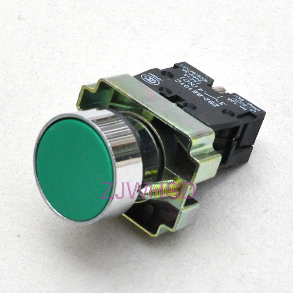 Green Sign Momentary Push Button Switch Normally Open