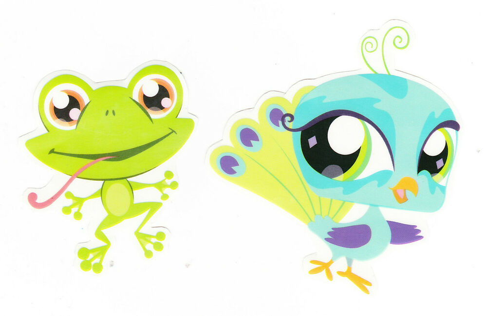 4 quot littlest pet shop peacock frog wall stickers border