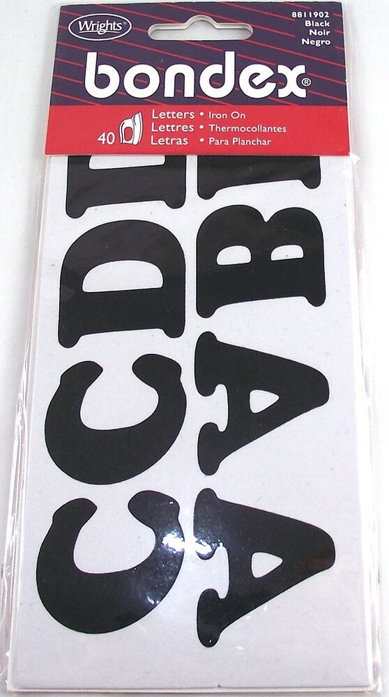how to iron on letters 40 x black iron on letters ebay 11753