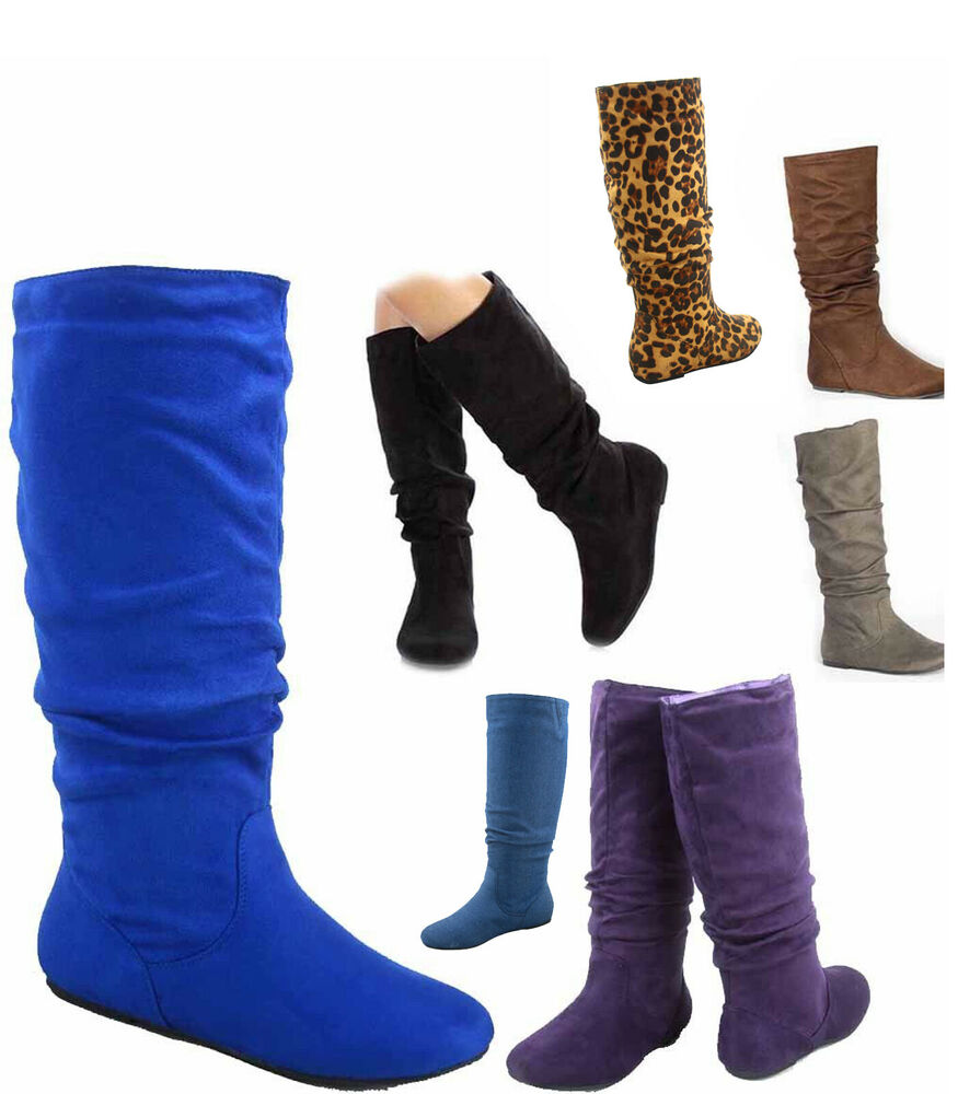 s casual comfort mid calf knee high toe slouch