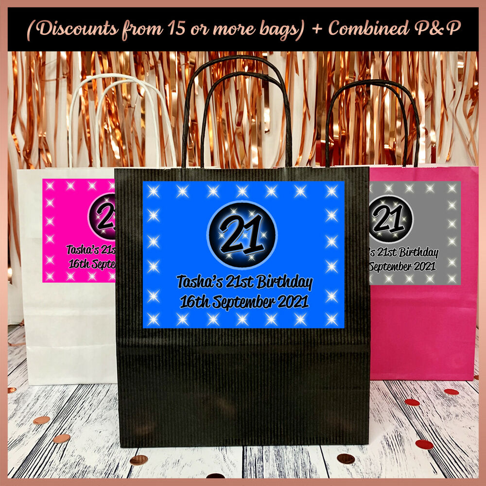 Http Www Edsfashions Co Uk Gift Ideas For Girls Age 10: Personalised Birthday PARTY BAGS Any Age Any Colour
