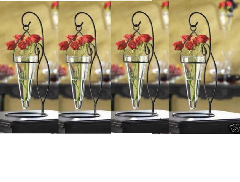 Hanging wedding party centerpiece vase candle