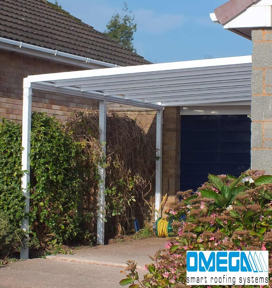 Aluminium canopy patio cover carport caravan cover lean for Small garden shelter