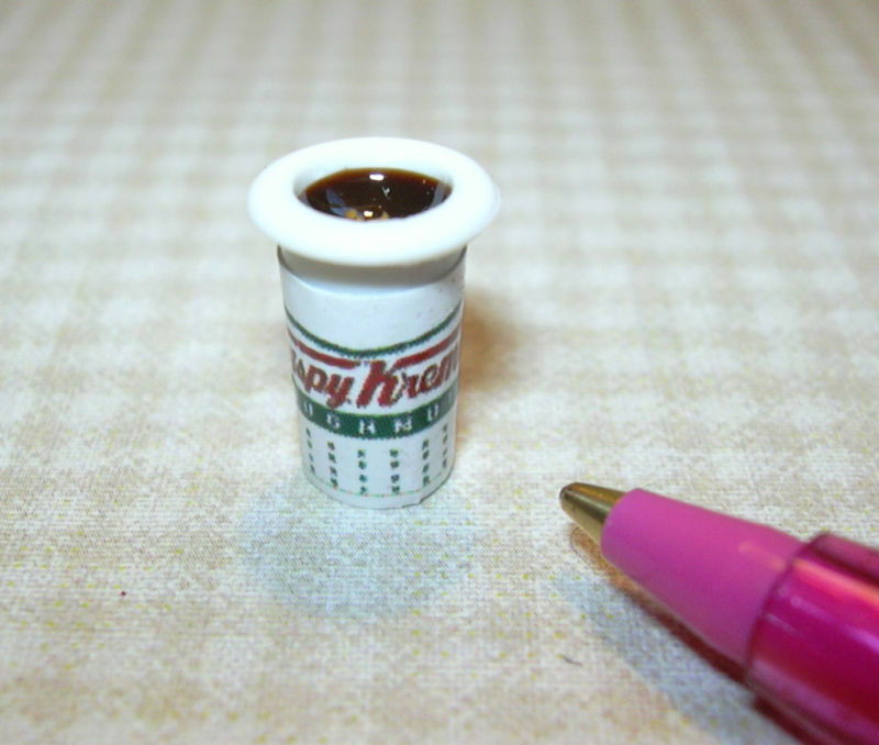 Miniature To Go Take Out Cup Of Coffee 2 A Dollhouse