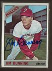 1966 TOPPS #435 JIM BUNNING HOF PHILLIES TIGERS SENATOR SIGNED CARD AUTO 15A