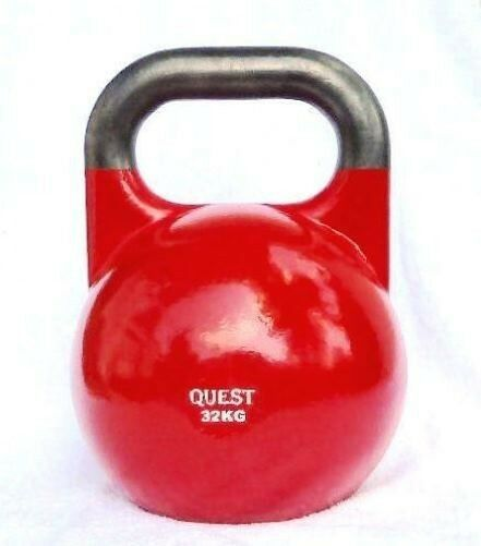 Kettlebell 24kg Professional Competition Grade: 32 KG (70 LB) Quest Pro-Grade Competition Kettlebell
