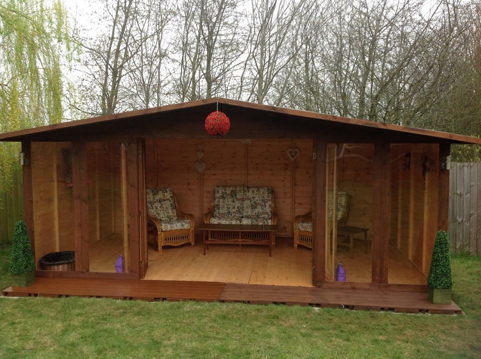 16x8 the chester summer house ebay - Garden sheds m x m ...