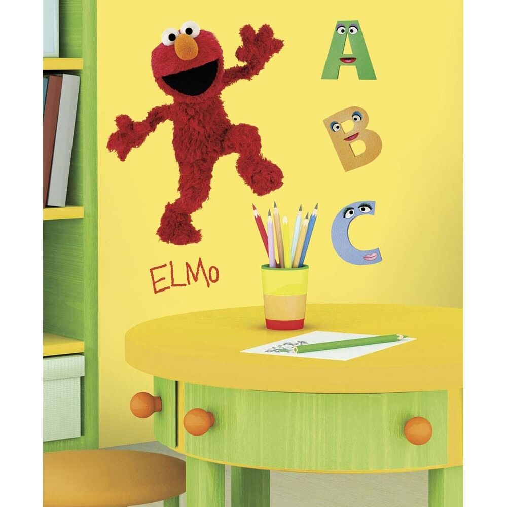 Sesame Street Bedroom Decor New Large Elmo Wall Decals Mural Sesame Street Room Stickers Baby