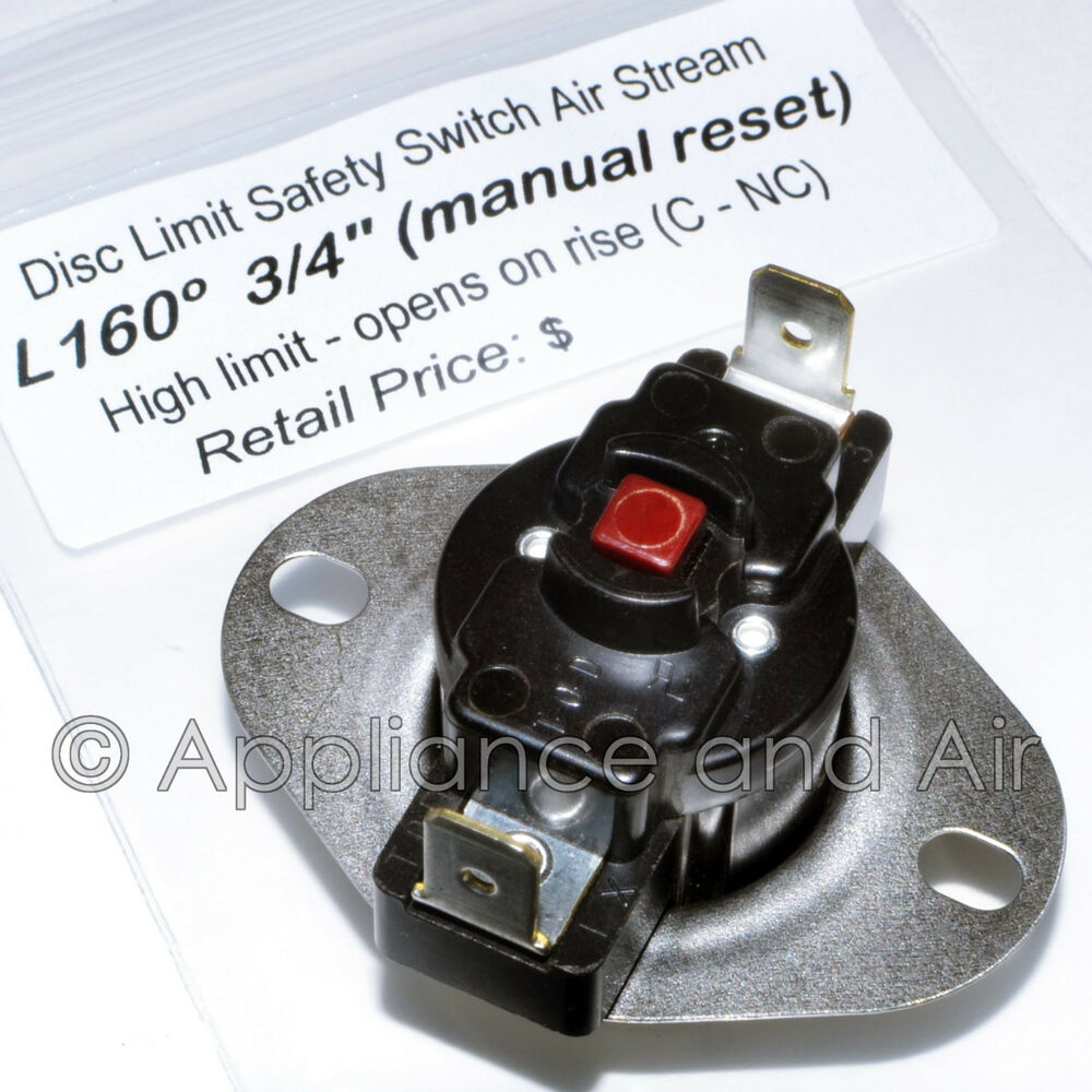 47 25118 01 Rheem Ruud Hi Limit Switch L160 Manual Reset