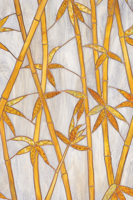 New BAMBOO Privacy Stained Glass Decorative Window Film Vinyl ...