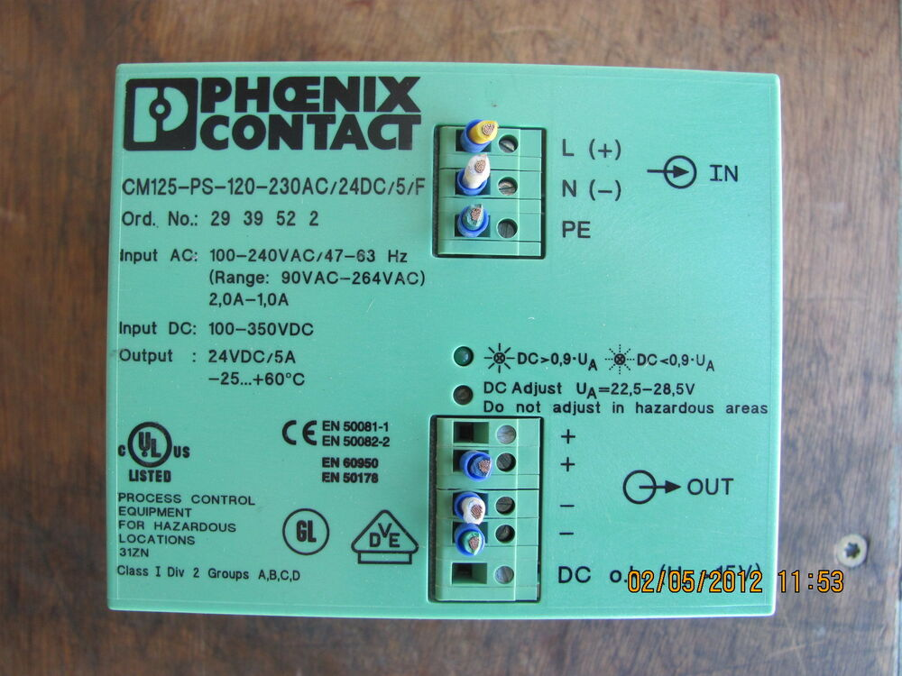 list of resume objectives%0A Phoenix Contact CM   PS      AC   DC   F    volt dc power supply   eBay
