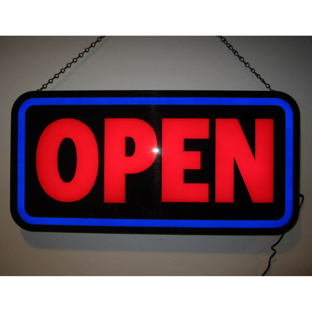 led open sign for business rectangle for window or wall opti neon. Black Bedroom Furniture Sets. Home Design Ideas