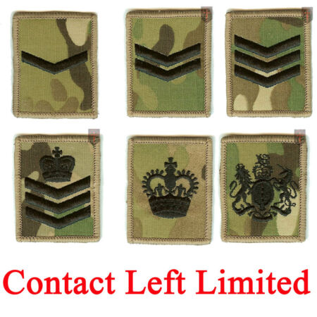 img-2 x Multicam / MTP Hook and Loop Rank Badges LCPL, CPL, SGT, SSGT, WO2, WO1
