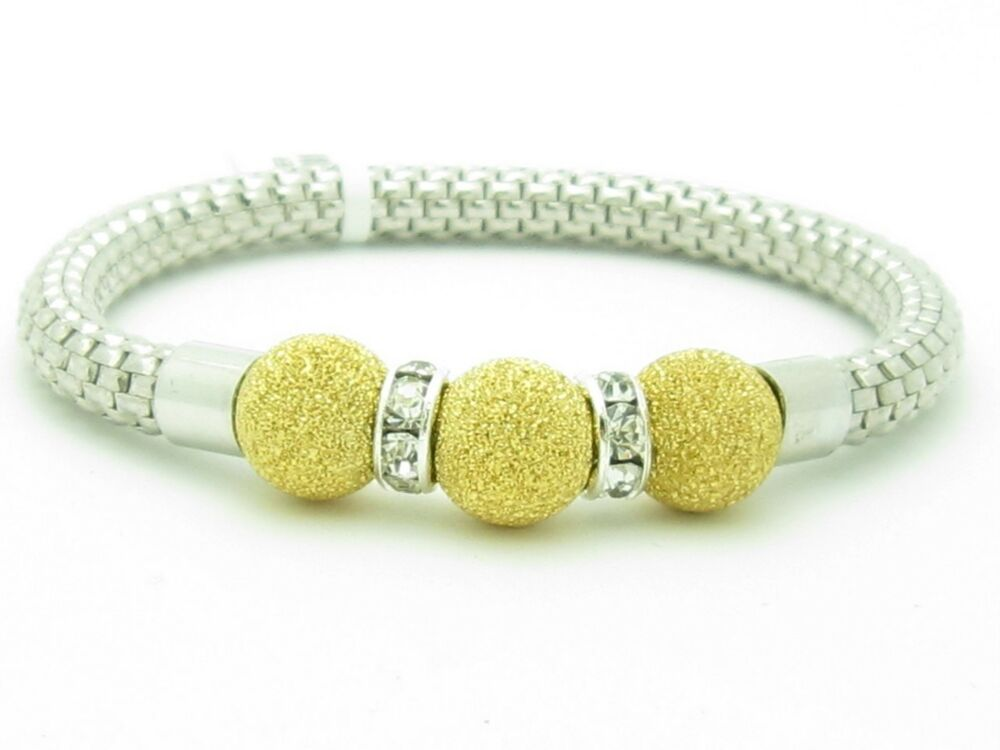 18kt gold platinum silver cut bead stackable