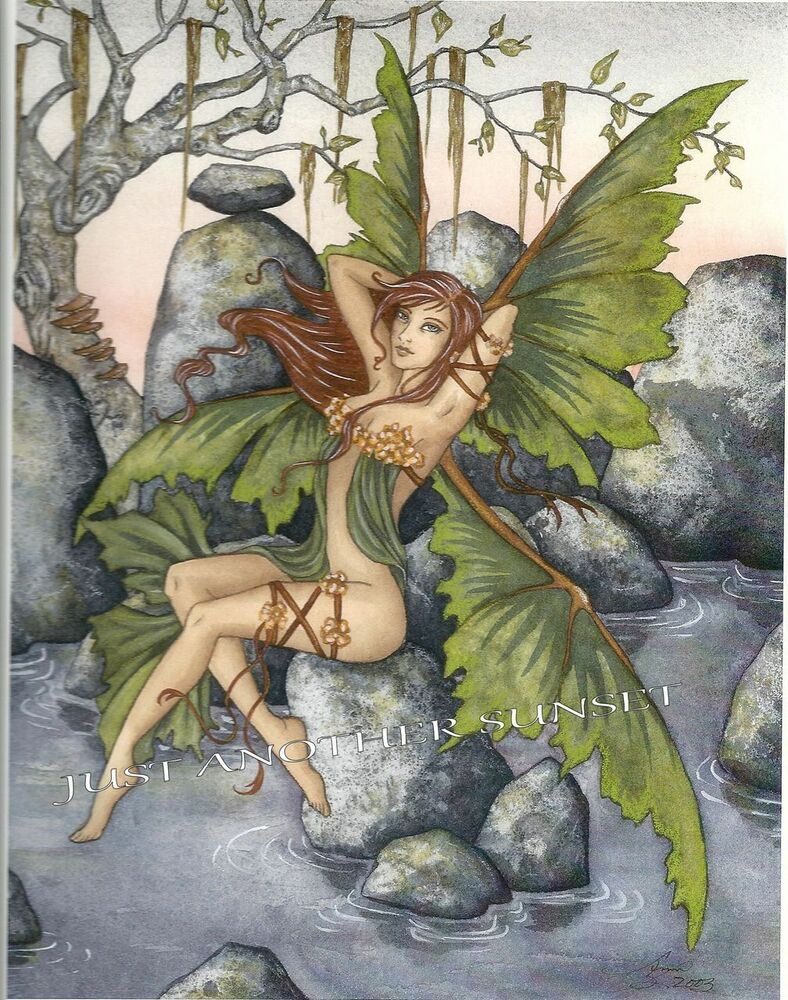 amy brown print fairy faery temptations ii sprite siren forest