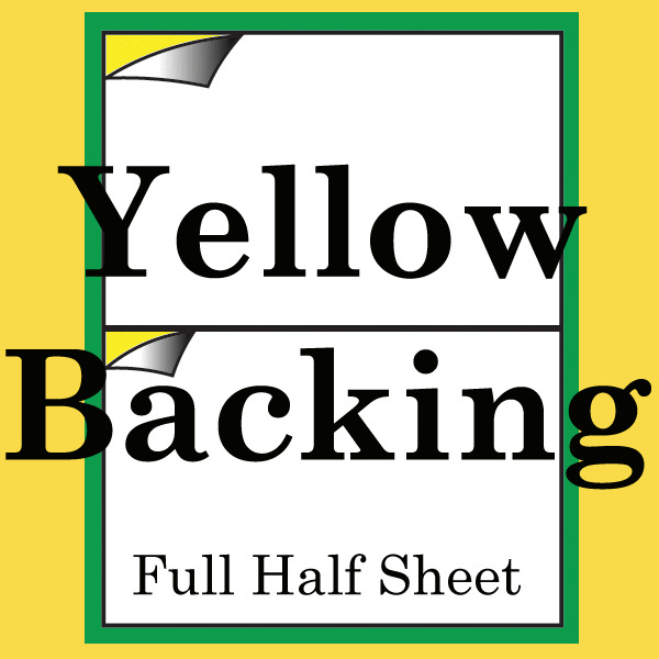 200 shipping label yellow backing half sheet self adhesive for Half page sticker labels