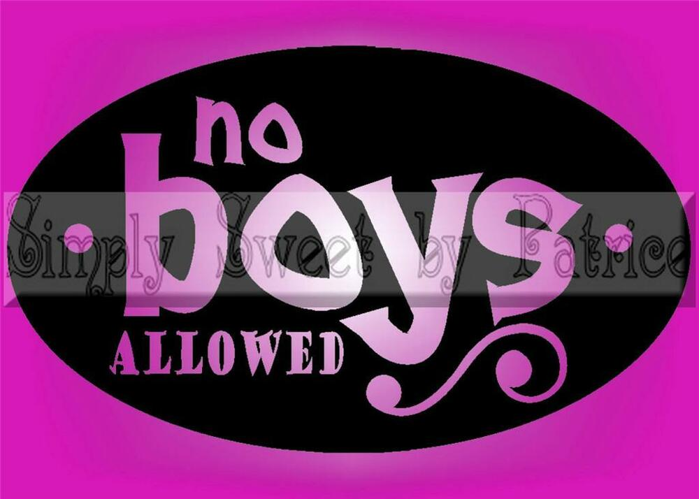 no boys allowed vinyl wall saying lettering quote art decoration decal sign craf