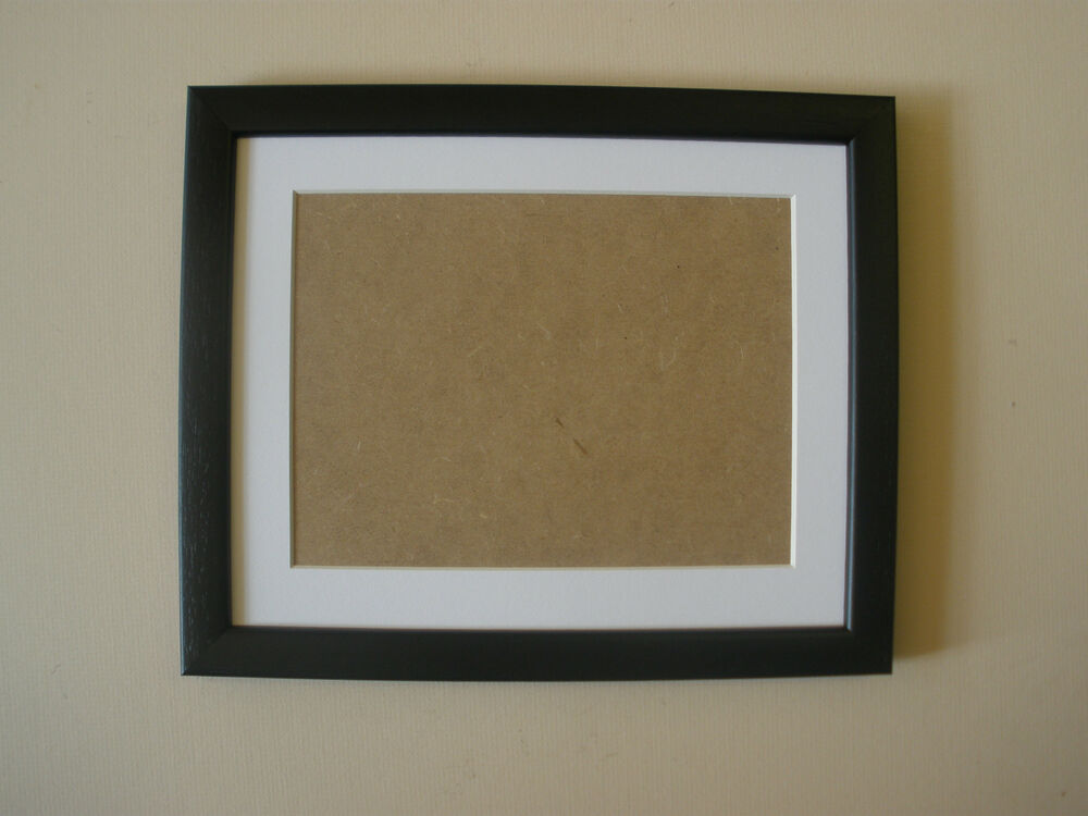 square picture photo frame black 10x10 inch white mount for 8x8 pic ebay. Black Bedroom Furniture Sets. Home Design Ideas