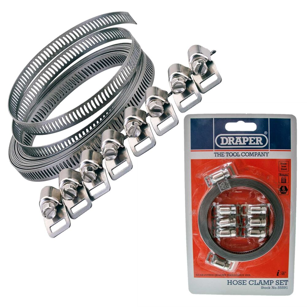 Draper 3m Long Hose Clip Clamp Band Strap Adjustable
