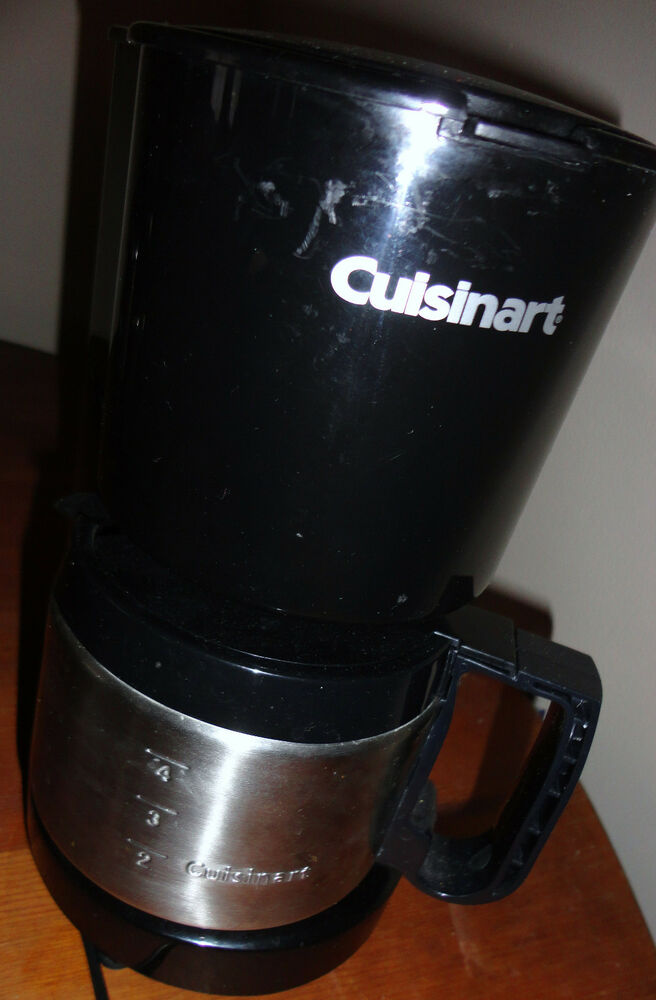CUISINART DCC-450 STAINLESS STEEL 4 CUP COFFEE MAKER W STAINLESS STEEL CARAFE eBay