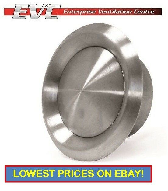 Stainless steel air valve domestic ventilation ducting