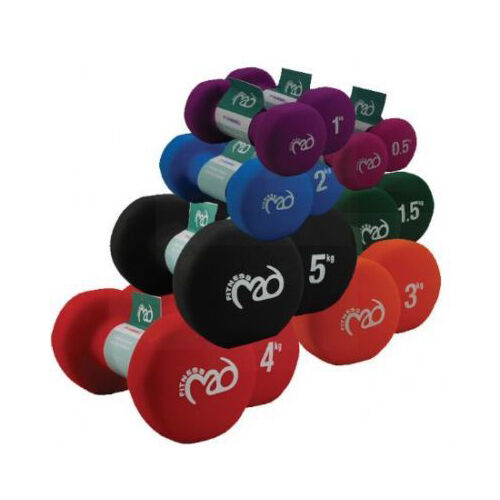 Fitness Mad Dumbbells Pair Neoprene Gym Workout Free ...