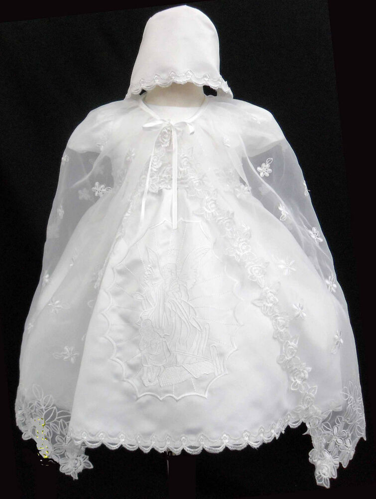 Infant Toddler Baby Girl Christening Baptism White Dress