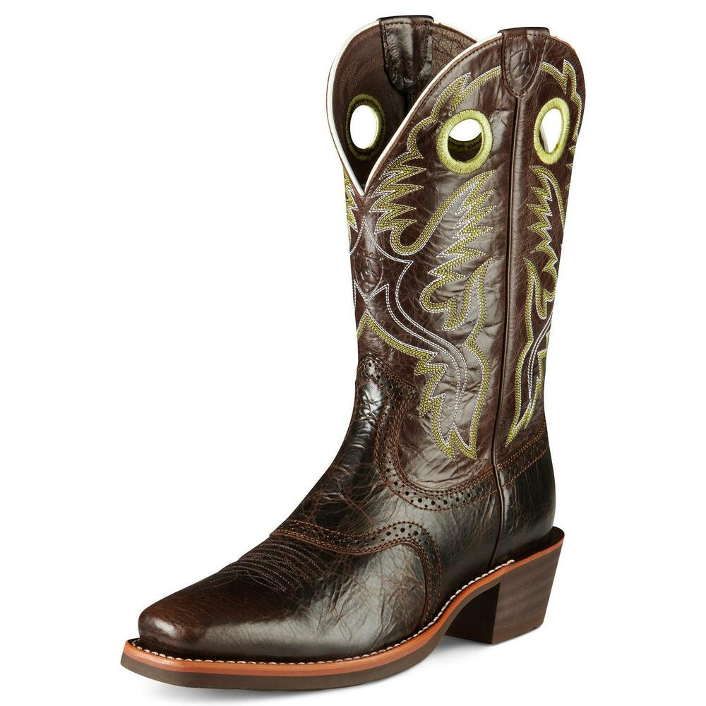 Ariat Men S Heritage Roughstock Leather Cowboy Boots