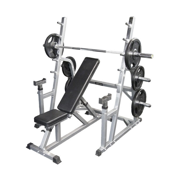 Barbell Safety Squat Rack Adjustable Incline Bench 105kg Weights Barbell Ebay