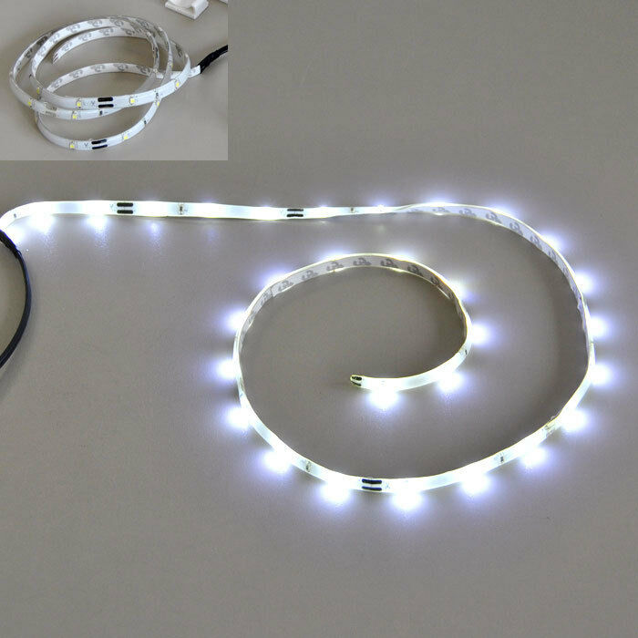 30 led lichtband wei 1m auto camping wohnmobil beleuchtung 12v strips streifen ebay. Black Bedroom Furniture Sets. Home Design Ideas