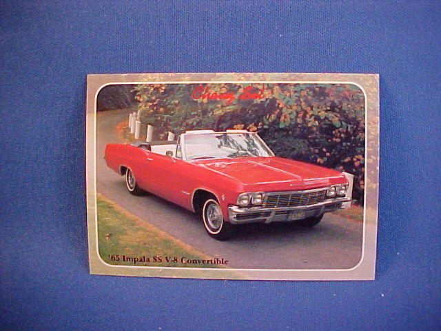 1965 chevy impala ss super sport convertible collector card brand new 65 ebay. Black Bedroom Furniture Sets. Home Design Ideas