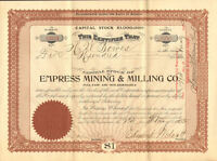 Empress Mining & Milling Co.   1905 Arizona mines stock certificate share