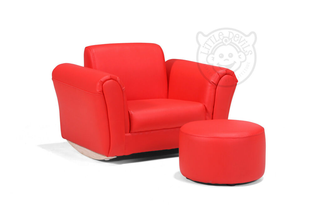 Red Lazybones Kids Rocking Chair Seat Armchair Sofa For