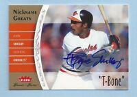 """JOHN SHELBY 2006 GREATS OF THE GAME INSCRIBED AUTOGRAPH AUTO """"T-BONE SHELBY"""""""