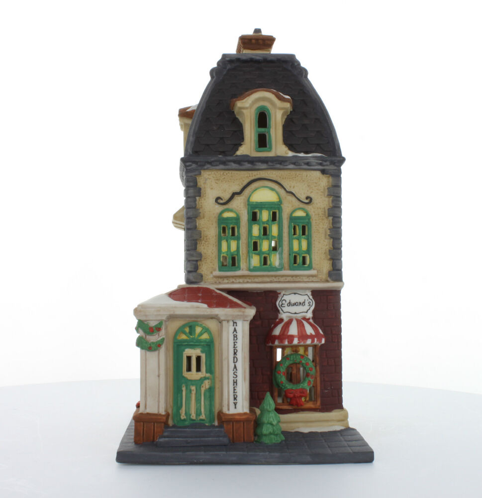 department 56 christmas in the city collectible haberdashery 1992 55310 retired ebay. Black Bedroom Furniture Sets. Home Design Ideas