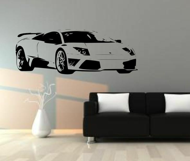Lamborghini murcielago diy home decor wall decals for Cars wall mural sticker
