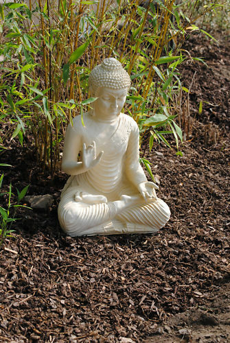 buddha gro feng shui statue budda 45 cm figur garten deko wetterfest ebay. Black Bedroom Furniture Sets. Home Design Ideas