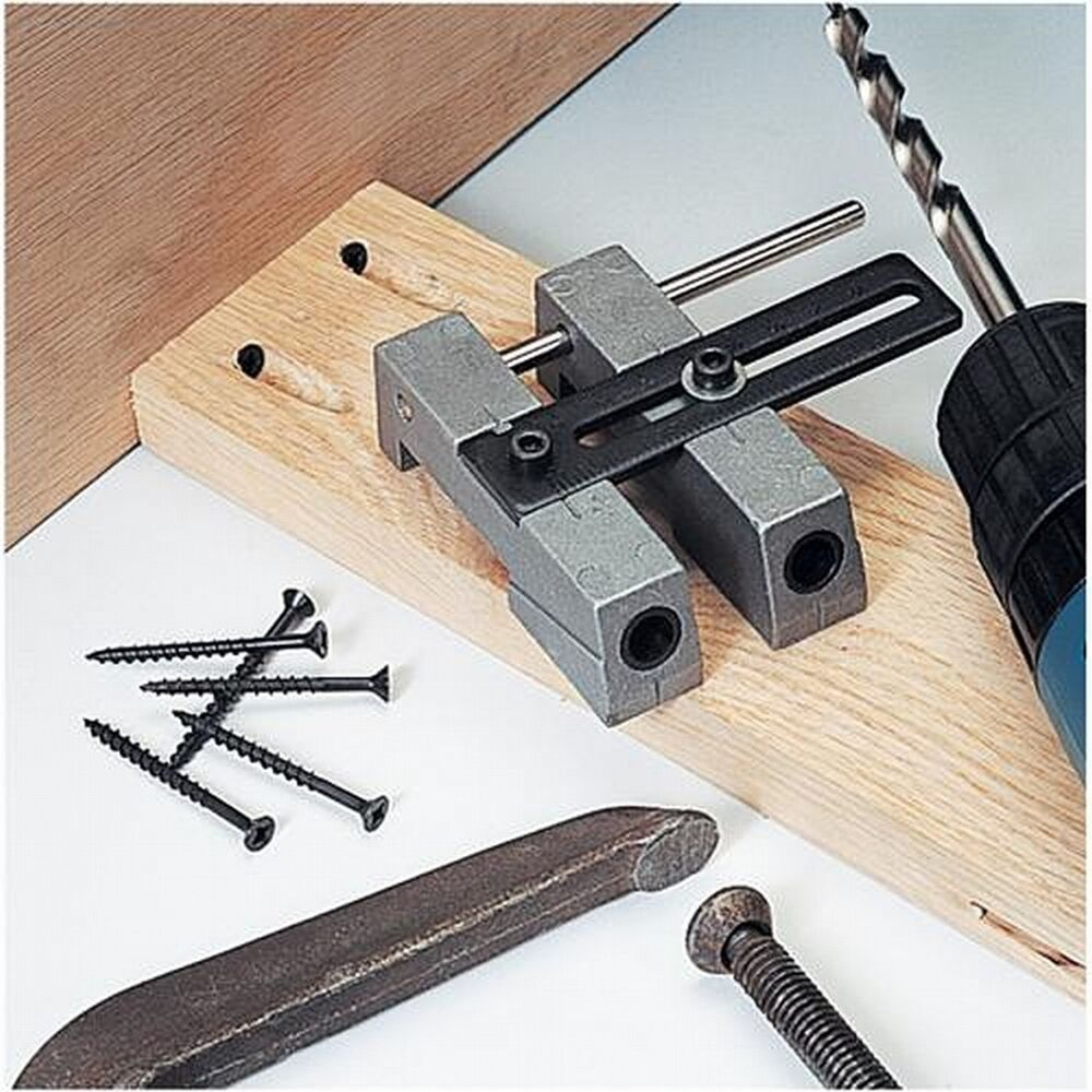 Adjustable Double 3 8 Pocket Hole Jig Guide Step Drill