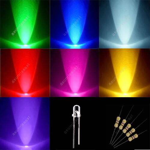 70 215 Red Green Blue Yellow Purple Pink White 3mm Mixed Led