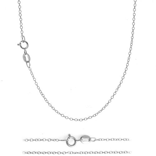925 Sterling Silver 1mm Italian 925 Cable Chain Necklace