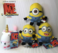 """4X Despicable Me 3 Minions & Unicorn Soft Toy Plush Stuffed Doll 6"""" Collection"""