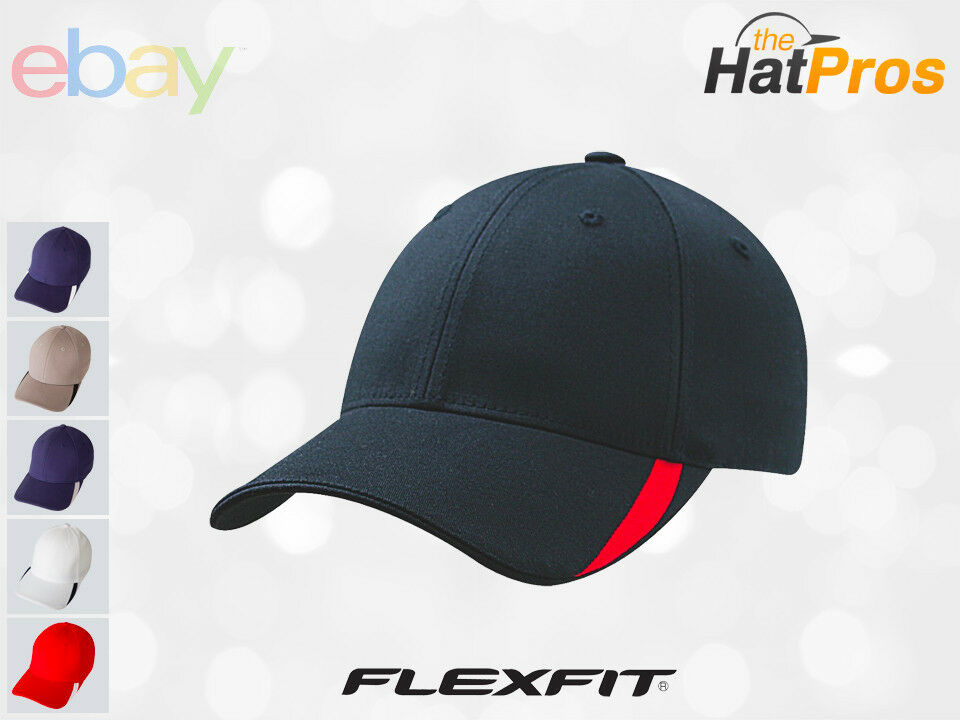 5006 Flexfit Sweep Low Profile Fitted Baseball Blank Plain