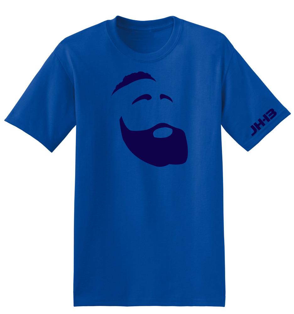 Fear The Beard OKC Thunder James Harden Blue T Shirt White