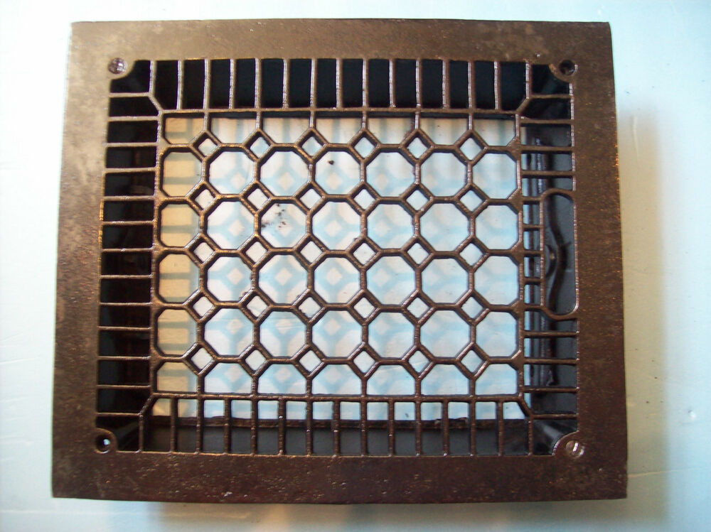 No fins simple honeycomb heating grate cast iron 10 x 12 for 10 x 12 floor grate