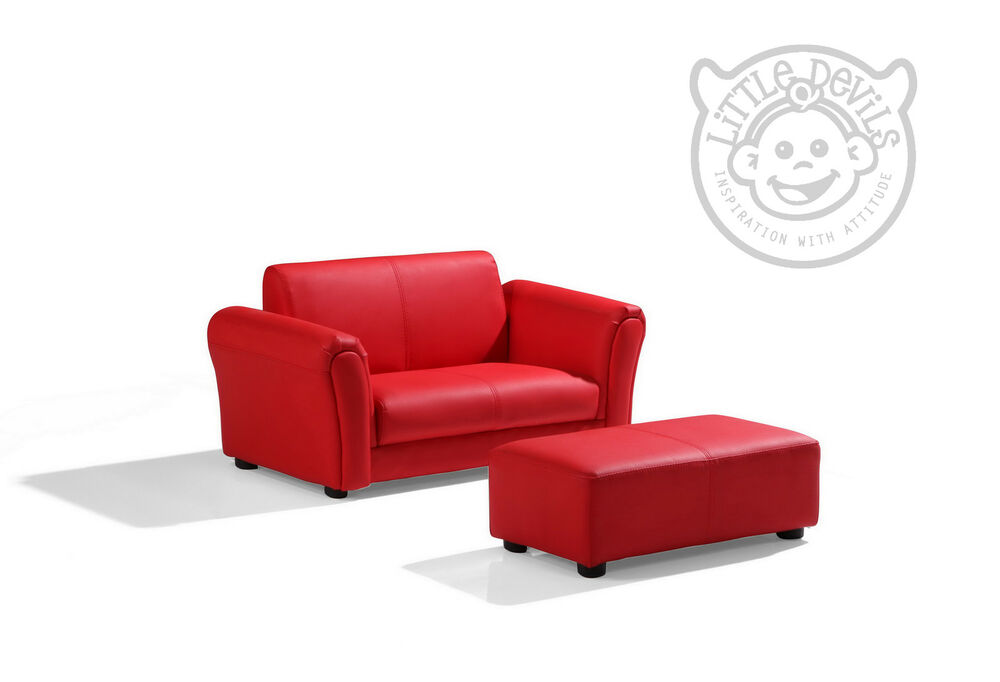 Red Lazybones Kids Twin Sofa Chair Armchair Sofa For
