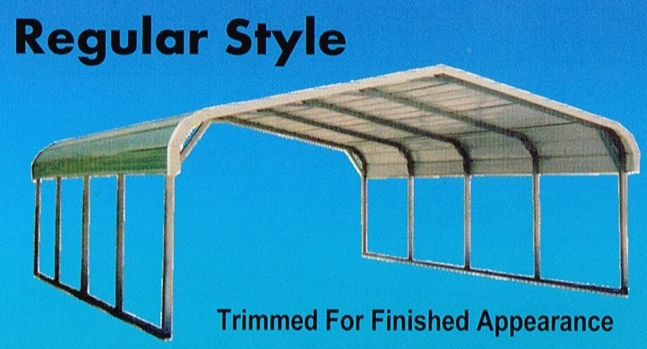 12x21 Metal Carport : Metal carport all steel storage building installed