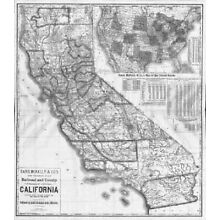 1883 CA Map Cambrian Park Carmel Valley Village by the Sea  CALIFORNIA History