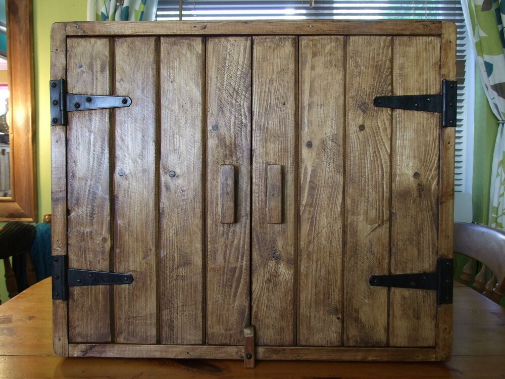 Solid Wood Rustic Kitchen Cabinets