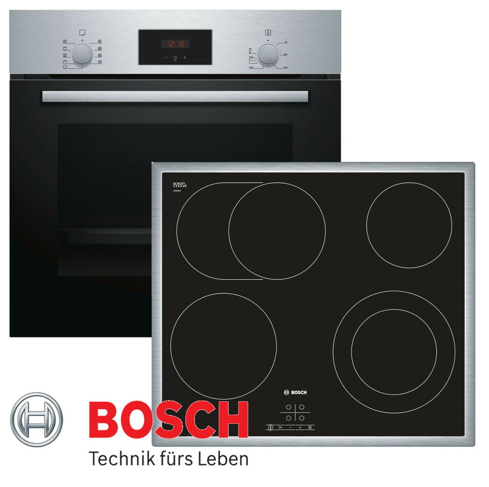 herdset autark einbaubackofen bosch teleskopauszug. Black Bedroom Furniture Sets. Home Design Ideas