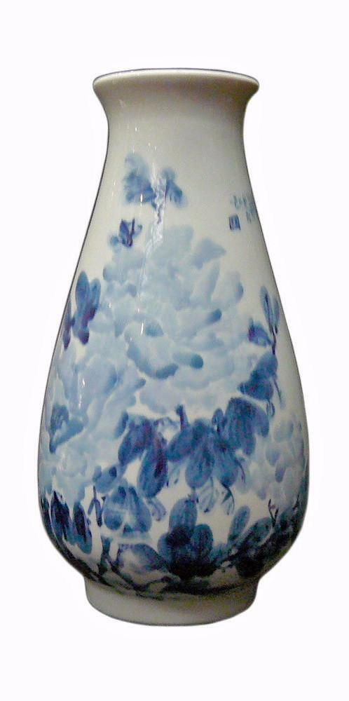 Porcelain blue white flower decor vase fs792 ebay - Great decorative flower vase designs ...